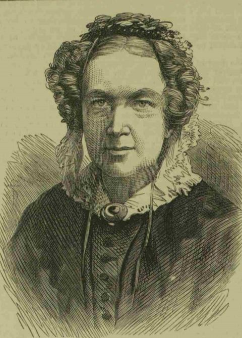 Head and shoulders portrait drawing of Mary Carpenter from The Illustrated London News