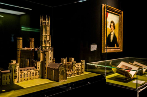 Photograph of British Library exhibition, Terror and Wonder: The Gothic Imagination