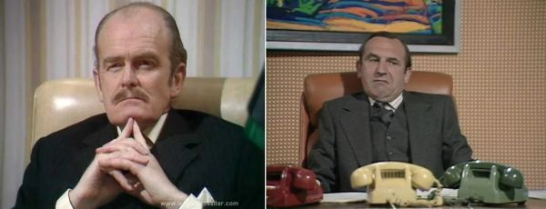 Image of two men at their offices from British sitcom The Rise and Fall of Reginald Perrin