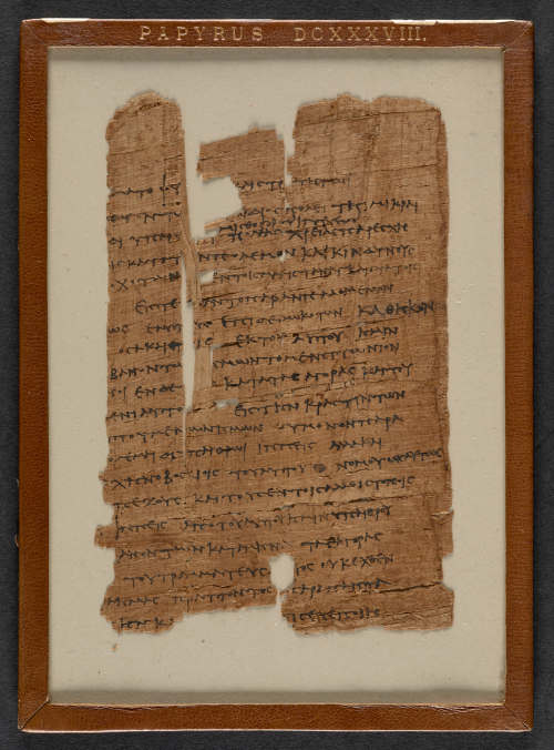 A fragment of a papyrus made in the 2nd century BC, featuring a petition in Ancient Greek from a group of soldiers complaining about low pay.