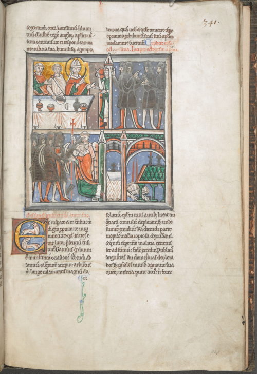 Medieval manuscript illustrated with the earliest known representation of the murder of St Thomas Becket