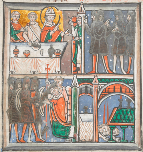 Detail of the earliest known representation of the murder of St Thomas Becket