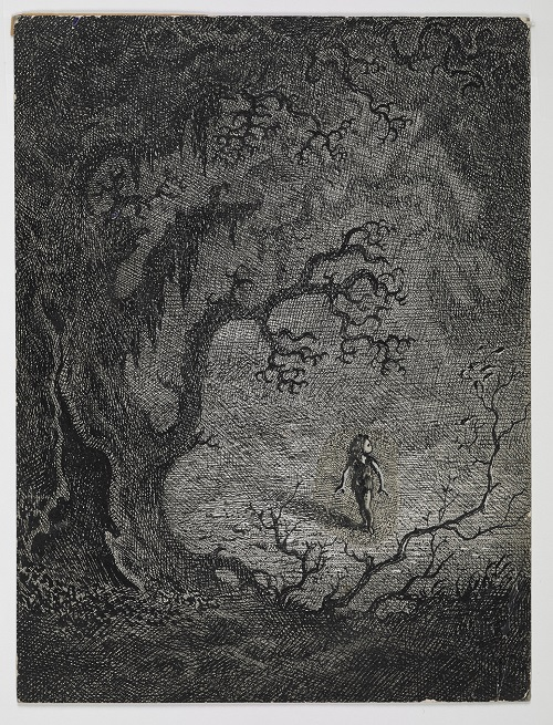 Illustration for 'Our Lady's Child' from Household Tales by the Brothers Grimm  1946. © Estate of Mervyn Peake.