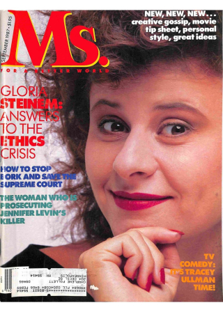 Comedian and actress Tracey Ullman graces the cover of the September 1987 edition of Ms.