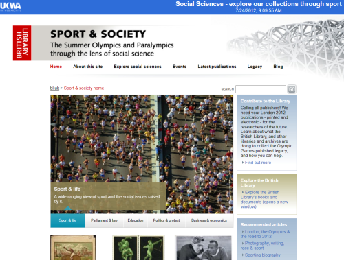 BL Olympics website 2012