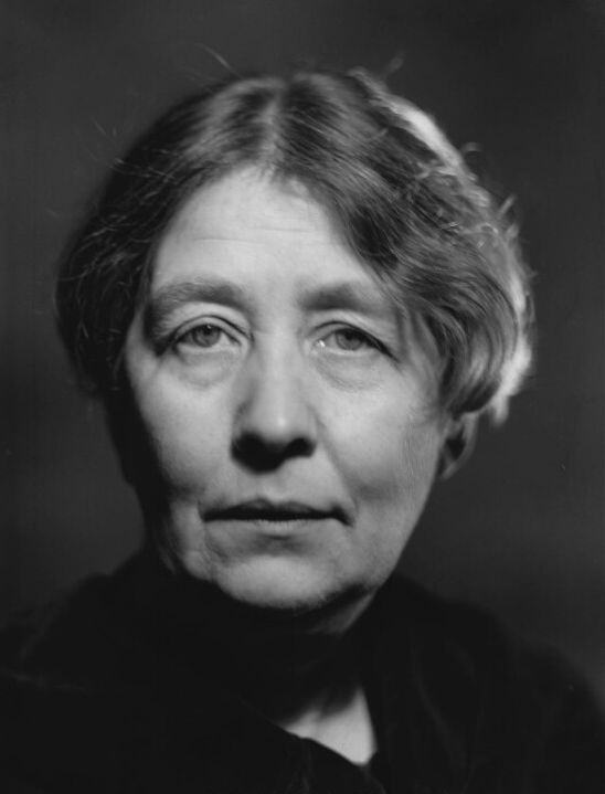 Head and shoulders portrait photograph of Sylvia Pankhurst 1938