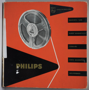 Philips magnetic tape box