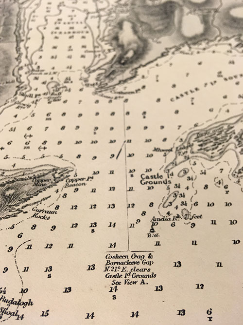 Admiralty Chart of Long Island and Baltimore Bays, Ireland