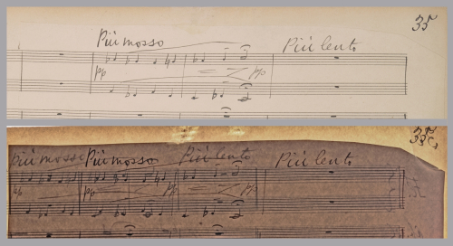 Detail from page 35 of Elgar's The Dream of Gerontius