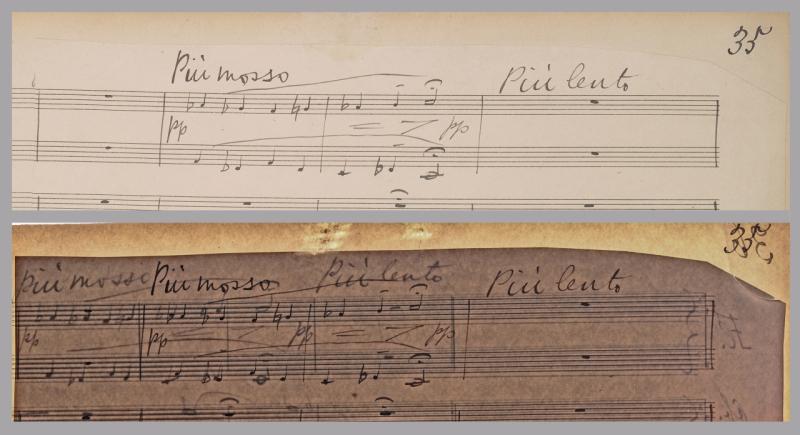 Elgar Gerontius score page 35 detail