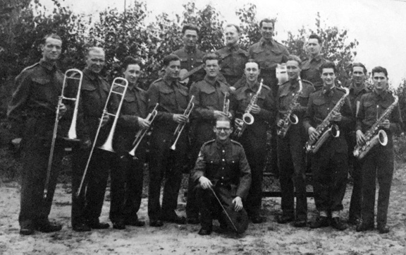 Major Howe with his band in Berlin  1943