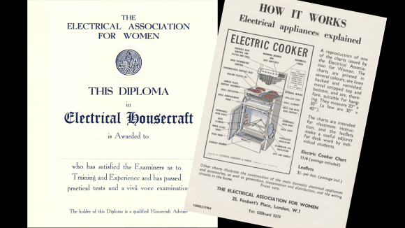 Image of a diploma from the Electrical Association for Women