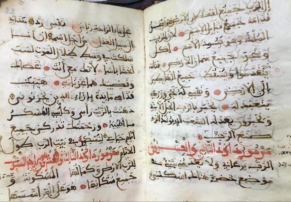 Psalms in Arabic from al-Andalus (Add. Ms. 9060, fol. 41v–42)