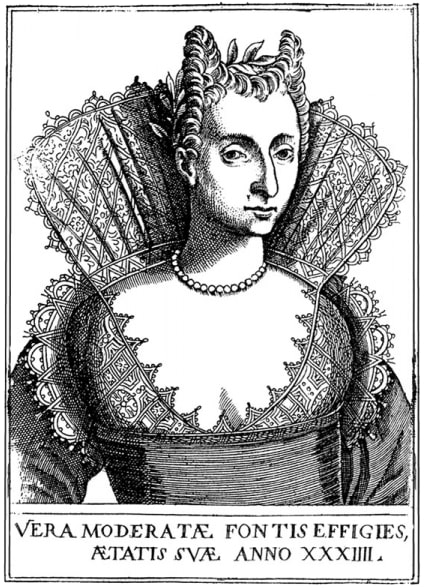 Engraving of Moderata Fonte