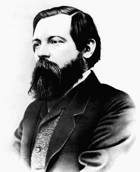 Half-length photograph of Engels