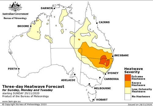Three-day Heatwave Forecast