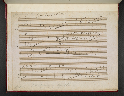 Beethoven's cadenza for the last movement of Mozart's Piano Concerto in D minor (K. 466).