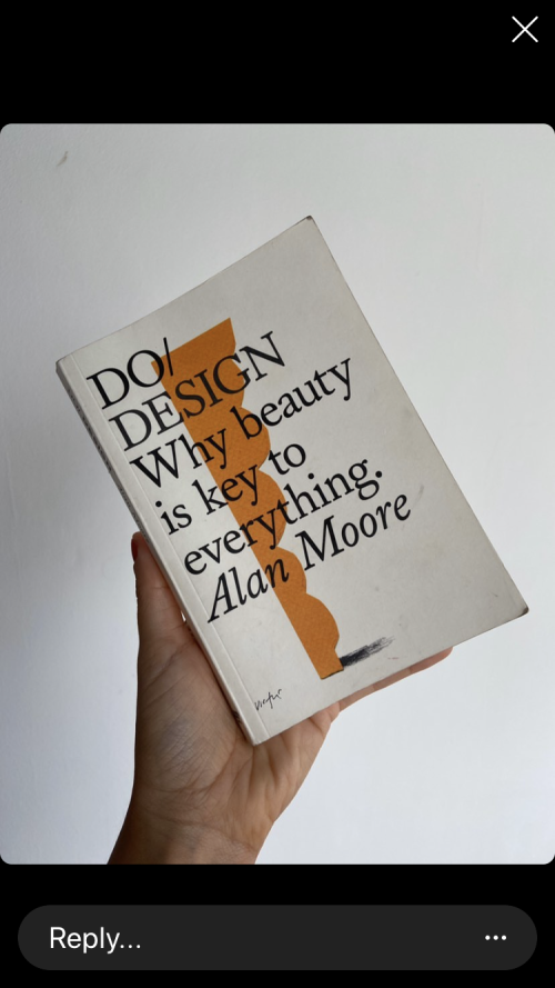 Image of a hand holding a book and showing its cover. Book title reads: Do/Design: why beauty is key to everything