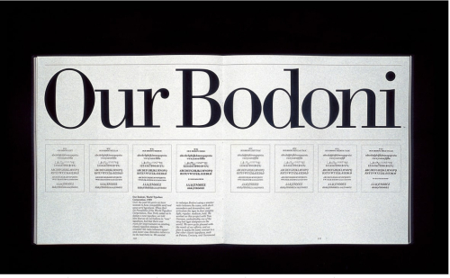 Vignelli Associates, Our Bodoni