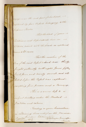 Petition to the Government of Bombay  5 February 1817