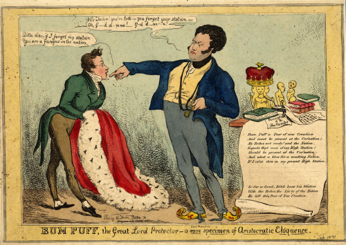 Caricature of FitzClarence as Bum Puff