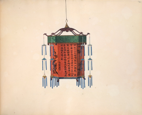 A Chinese hexagonal palace lantern