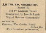Radio Times listing 28 November 1937