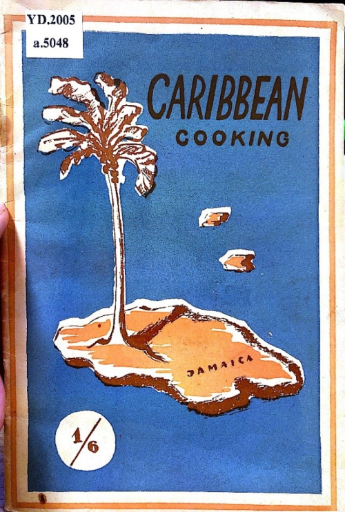 Front-cover with a palm tree on an island amongst a background of blue.