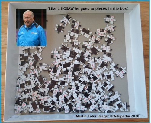 Photo of jigsaw puzzle in pieces