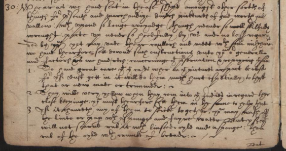 Extract from 1613 document giving instructions for remedial work on paintings aboard New Year's Gift
