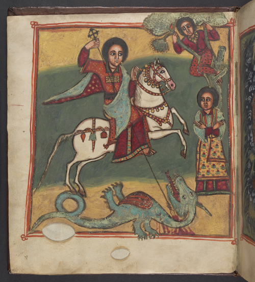 ገድለ ጊዮርጊስ, The Acts of St. George, 18th century. Or 715, folio 2v