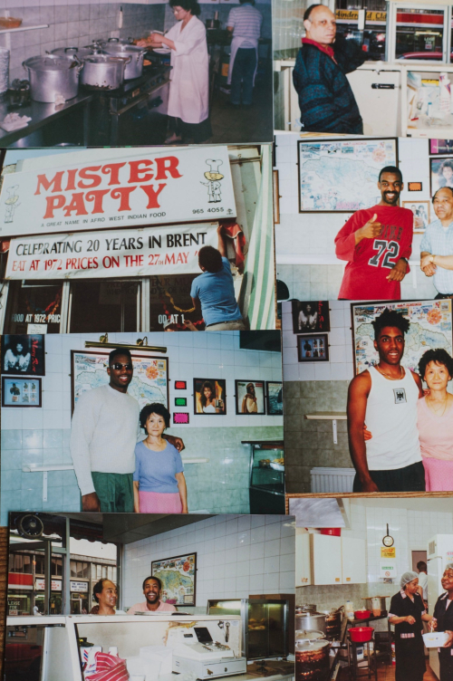 Collage of photographs taken at Mister Patty in Brent.