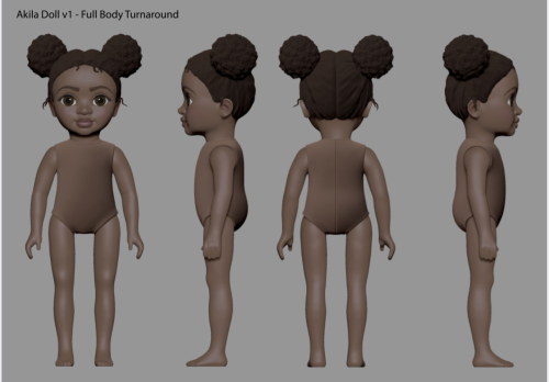 Akila Dolls  example of an product design development, presented and constructed digitally