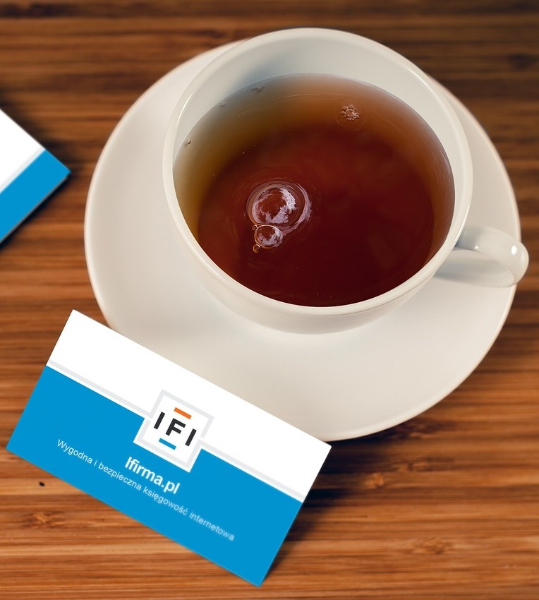 Business Card and tea