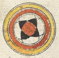 Roundel marking part of juz' 10-Or_16915_f089v