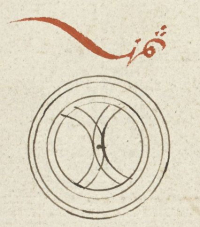 Unfinished marginal ornaments in a Qur'an from Aceh-Or_16915_f247r