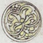 Illuminated marginal medallion indicating the start of a new juz'-EAP1020-5-1.58-juz-a