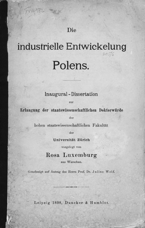Cover of 'Die industrielle Entwickelung Polens'