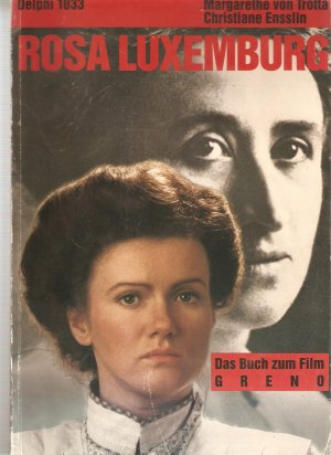 Cover of 'Rosa Luxemburg', with photographs of Luxemburg and the actress who portrayed her in the 1986 film