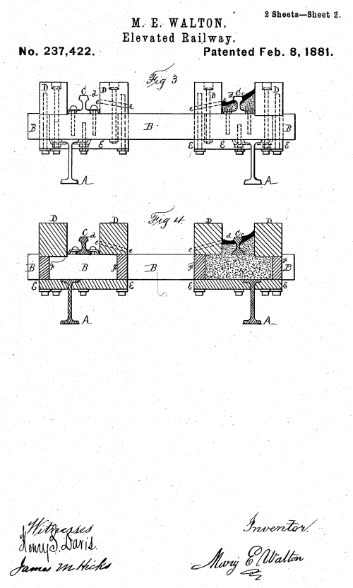 Patent for Elevated Railway