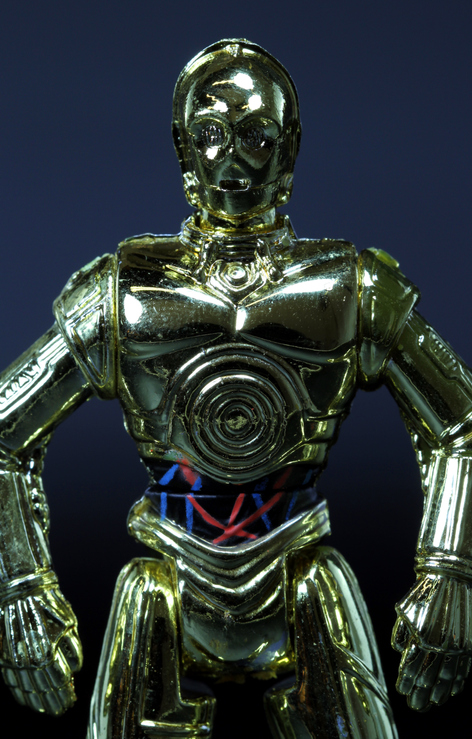 A C3PO figurine from the Hasbro line of Star Wars toys
