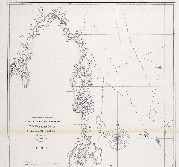 Survey of the southern side of the Gulf and the Qatar Peninsula