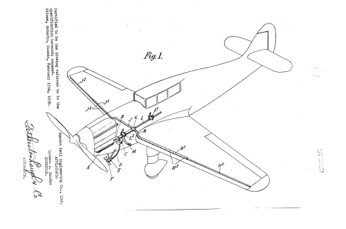 Illustration from patent CA376999A 'Ice formation preventing apparatus for aircrafts