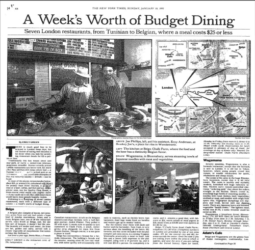 Newspaper article with text and images