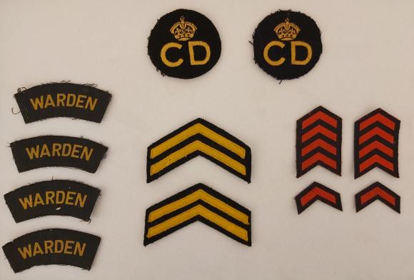 The Wilsons' Air Raid Warden badges