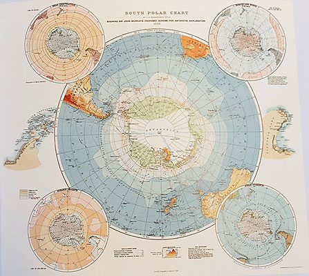South Polar Chart, in The Scottish Geographical Magazine 1898