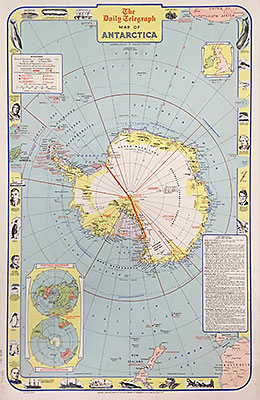 The Daily Telegraph Map of Antarctica 1957