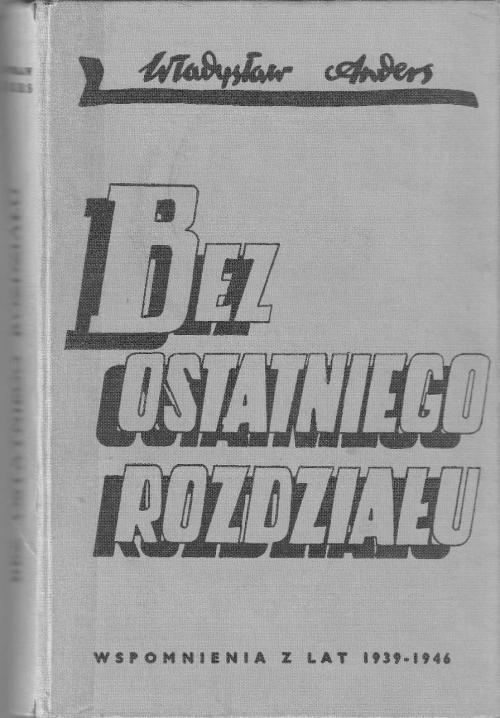Cover of the 1959 edition of Anders's memoir, Bez ostatniego rozdziału