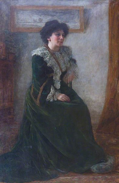 Painting of Hertha Ayrton