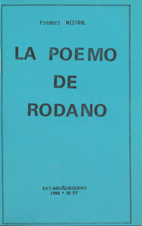 Cover of the Esperanto translation of Le Poème du Rhône